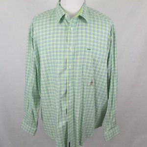 Tommy Hilfiger Button Down Green Blue Checks Shirt
